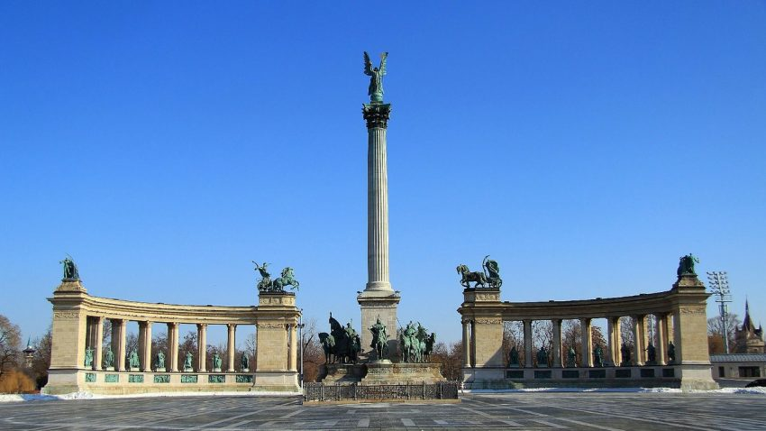 Heroes Square Visiting Budapest