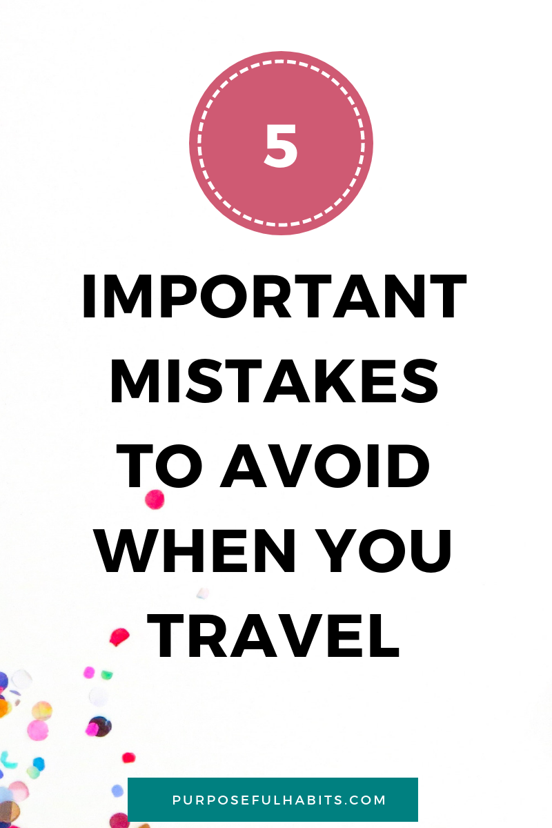 Do you think about any of the important mistakes to avoid when you travel or go on holiday? Don't be a victim of your creation by forgetting number 1 and 3. Click through to find out what they are and how to avoid them. Make sure you are set for an amazing vacation at all times. #familytravel #holiday #travel #vacation #packinglist #weekendtravel #holiday #getaway #roadtrip #family #destination