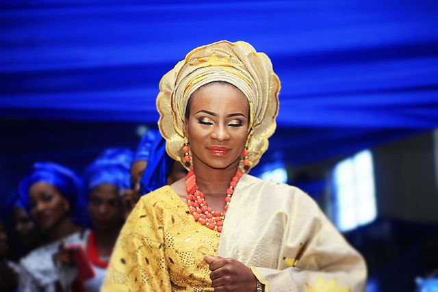 Africa Unseen, a Yoruba bride wearing traditional attire with gele