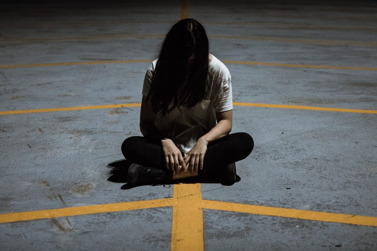 How to protect yourself from cyberbullying a busy bee's life girl sitting alone, protecting yourself