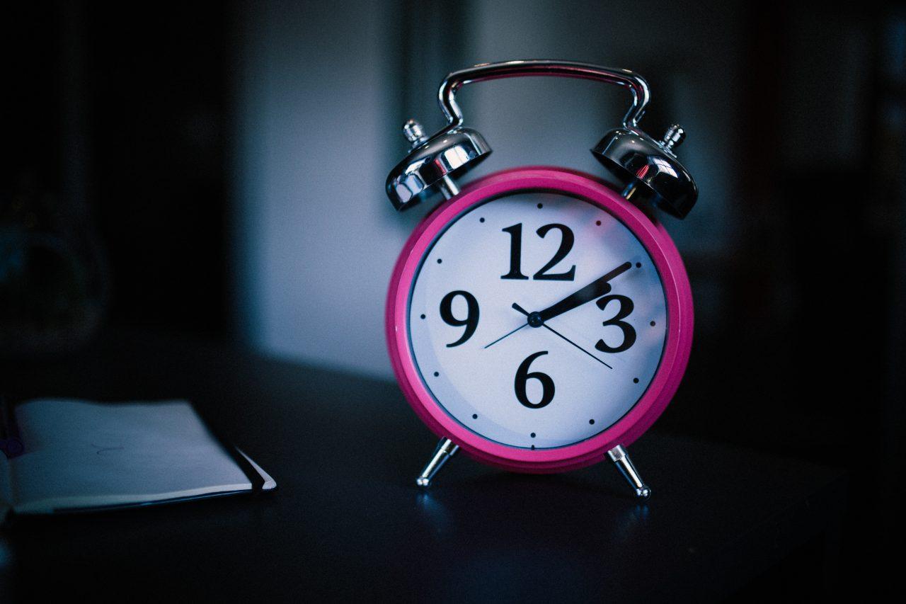 alarm, pink alarm clock, alarm