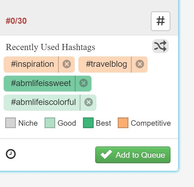 Color Coded hashtags on the Hashtag Finder Tool abusybeeslife