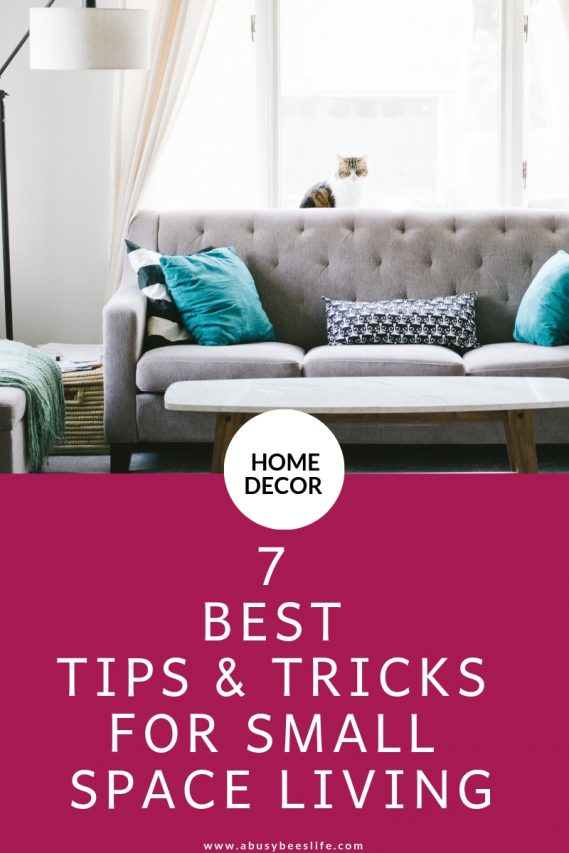 Decorating small spaces is very frustrating if you don't know how to do it. You can use these tips and tricks to maximize your space. Click through to learn how. #homedecor #home #livingroom #smallspaces #DIY