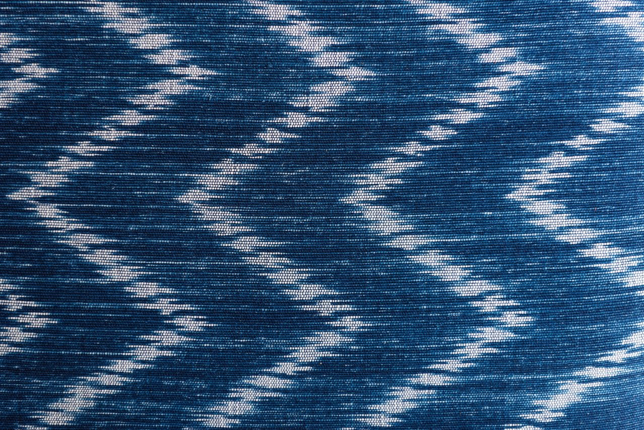 blue and white carpet with pattern
