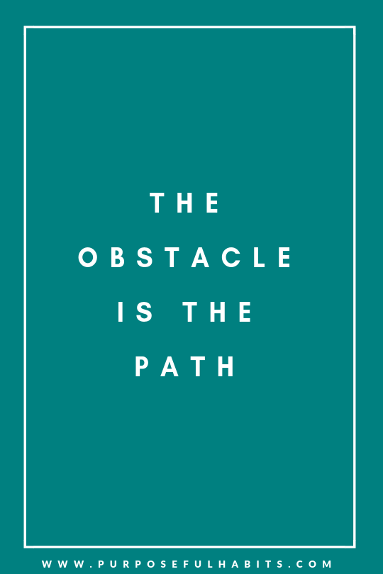 quotes obstacle is the path purposefulhabits.com